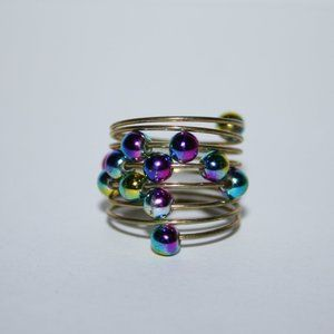 Gold coil and purple ring size 5